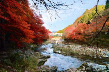 【奥津渓】今週末が見頃!近くに温泉もあるデートにもぴったりな鏡野町の絶景紅葉スポット。