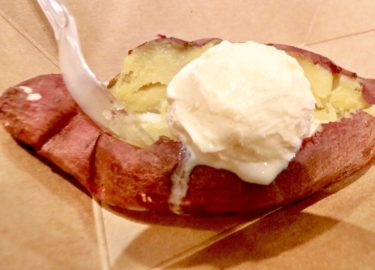 【tutuBANANA】アリオ岡山でハーゲンダッツとのコラボクレープが食べれるお店でほくほくスイートポテト。