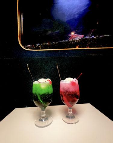 【コーヒールームキャッスル】又の名は「水族館喫茶」表町周辺の昭和レトロな喫茶店の「赤と緑のクリームソーダ」が映え!