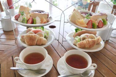 【レイクサイドガーデン&カフェ】1495円でアフタヌーンティーを食べれるって本当!?ペットも一緒に楽しめる絶景カフェ。