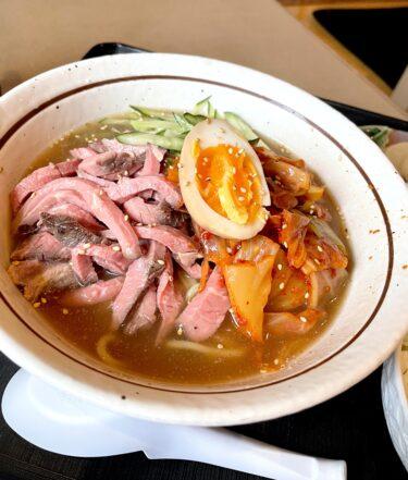 【九州料理 海賊】岡山市北区今|男性嬉しいコスパランチ!ローストビーフが乗った冷麺&800円の日替わり弁当で大満足。
