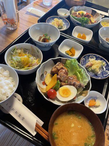 【みかわてらす えんがわ食堂】矢掛の古民家カフェで地物野菜を使ったほっこり和食御膳。